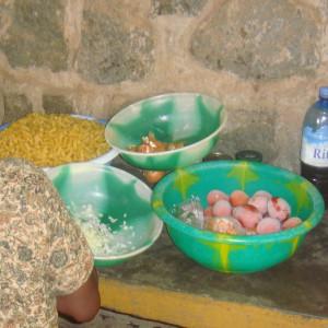 préparation des repas à la cantine