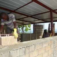 Construction du bâtiment provisoire